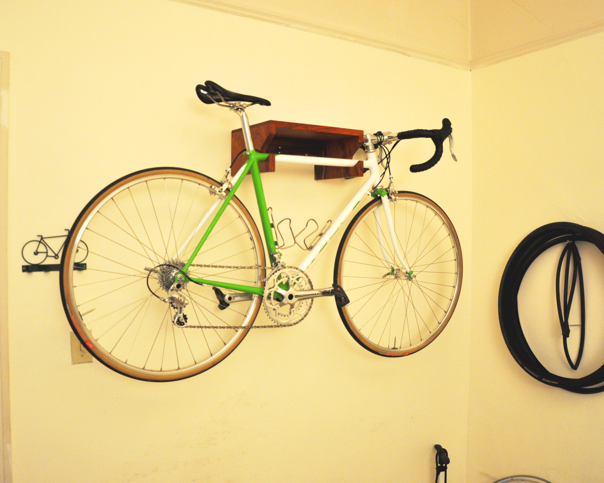 Padauk Floating Bike Rack Zawalich Woodwork Design